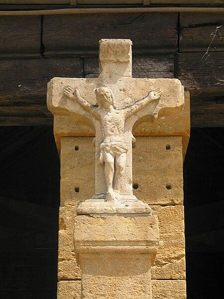 Torgny (Belgium), the cross of the public wash-house calvary (XVIIIth century).