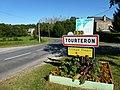 Tourteron (Ardennes) city limit sign.JPG