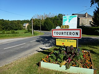 Tourteron (Ardennes) city limit sign.JPG