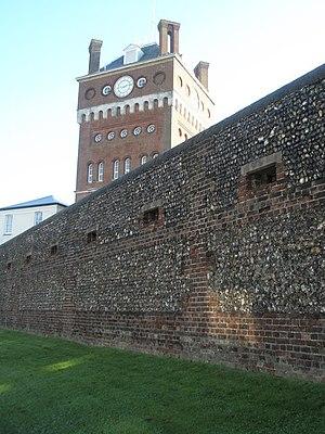 Eastney Barracks - Image: Tower behind boundary wall of Eastney Barracks geograph.org.uk 1012157