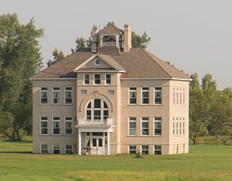Towner, North Dakota - School by Towner