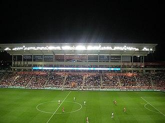 2010 Major League Soccer season - Image: Toyota Park interior (by night)