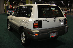 Toyota RAV4 EV - Rear view of one of the 328 RAV4 EVs sold to the public.