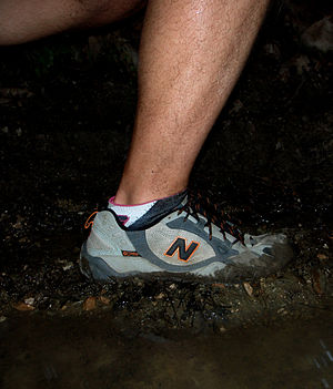 Trail running - Trail running shoes provide more benefit in softer surfaces (mud, grass) than usual road running shoes.