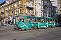 Tram in Sofia near Central mineral bath 2012 PD 069.jpg