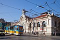 Trams in Sofia in front of Central Market Hall 2012 PD 032.jpg