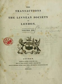 Transactions of the Linnean Society of London, Volume 13.djvu