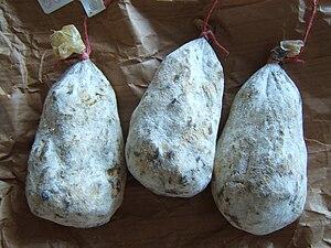 Cuisine of Abruzzo - Mortadella di Campotosto.