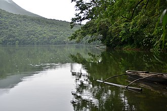 Bulusan Volcano Natural Park - Image: Trees, Lakes and Boat