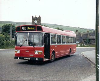 Hayfield - A Trent Leyland National at the bus station in the 1980s