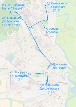 Trolleybus map of Babrujsk.png