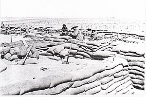 Scottish Horse - 1st Regiment Scottish Horse constructing a redoubt at Duadar, Summer 1916