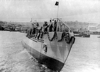 Bay of Morto - Image: Turkish submarine Atilay 1939