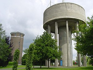 Duisburg, Tervuren - Image: Two Water Towers In Duisburg