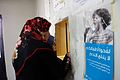 Two Syrian women wait to collect a prescription at a health clinic in Lebanons Bekaa Valley (11174124425).jpg
