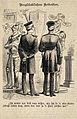Two military men standing in front of two coats of amour and Wellcome V0019975EL.jpg