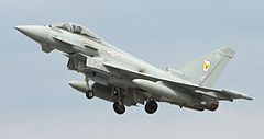 Eurofighter Typhoon FGR4 w barwach RAF-u.