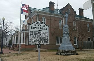 Tyrrell County Courthouse - Tyrrell County Historic Courthouse, March 2015