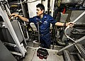 U.S. Navy Hull Maintenance Technician 1st Class Jaime Martinez repairs the cooling system on the littoral combat ship USS Freedom (LCS 1) during sea trials in preparation for Cooperation Afloat Readiness 130610-N-JN664-086.jpg
