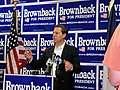 U.S. Senator from Kansas Sam Brownback officially opened his GOP presidential candidacy' Iowa campaign headquarters in West Des Moines, IA.jpg