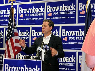Sam Brownback - Senator Brownback officially opened his GOP presidential candidacy' Iowa campaign headquarters in West Des Moines, IA