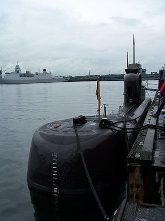 U-boat - U-15, a Type 206 submarine, of the German Navy at the Kiel Week 2007