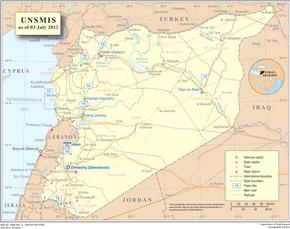 Subdivisions de la Syrie — Wikipédia