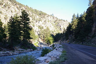U.S. Route 395 in California - US 395 ascending the West Walker River towards Devil's Gate Pass