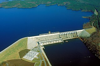 Richard B. Russell Dam Dam in Abbeville County, South Carolina / Elbert County, Georgia, USA