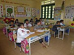 USAID supports deworming medication for school children in Bat Xat district of Lao Cai province (14240589733).jpg