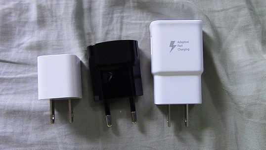 Common sizes of USB AC adapters USB AC Adapters.JPG