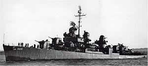 USS Aulick (DD-569) - USS Aulick (DD-569), 24 Feb 1945, off Mare Island