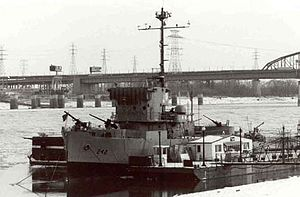 USS Inaugural (AM-242) - After decommissioning, USS Inaugural became a museum at St. Louis.