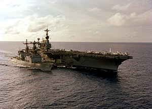 USS Independence (CV-62) and USS Peterson (DD-969) in 1979.JPEG