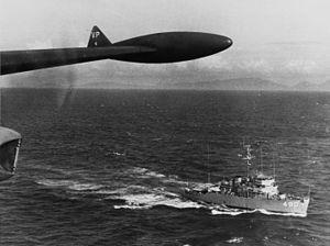 USS Leader (MSO-490) - Leader off Vietnam in 1965.