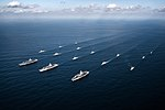 USS Nimitz (CVN-68), USS Theodore Roosevelt (CVN-71) and USS Ronald Reagan (CVN-76) carrier groups underway in the Western Pacific on 12 November 2017 (171112-N-TQ088-1766).jpg