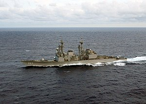 USS Spruance (DD-963) underway in the Atlantic Ocean on 11 June 2004 (6655386).jpg