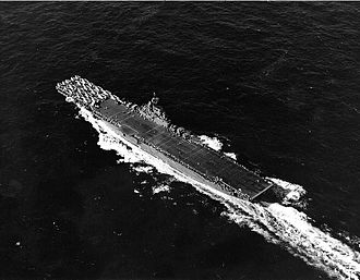 USS Wasp (CV-18) - Wasp underway, 22 February 1944.