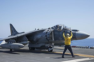 USS Wasp conducts flight operations. (29091917825).jpg