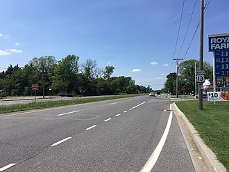 U.S. Route 13 in Delaware - US 13 northbound past the DE 42 intersection near Cheswold