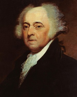 United States presidential election, 1800 - Image: US Navy 031029 N 6236G 001 A painting of President John Adams (1735 1826), 2nd president of the United States, by Asher B. Durand (1767 1845) crop