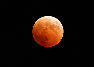 October 2004 lunar eclipse - Image: US Navy 041027 N 9500T 001 The moon turns red and orange during a total lunar eclipse