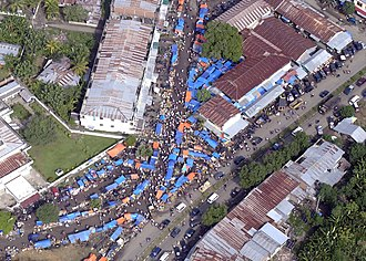 Effect of the 2004 Indian Ocean earthquake on Indonesia - Aerial view of new village in Banda Aceh to house people left homeless by the tsunami