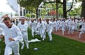 "US Navy 070517-N-0593C-002 Naval Academy freshmen, or ""plebes,"" sprint toward the Herndon Monument for the annual Herndon Climb.jpg"