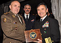 US Navy 101203-N-5483N-049 Vice Adm. Harry B. Harris Jr., right, resents Croatia chief of defense Gen. Josip Lucic with a U.S. 6th Fleet gift box d.jpg