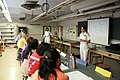US Navy 110713-N-QE550-021 Rear Adm. Gretchen S. Herbert speaks with young women involved in Pre-College Experiences in Physics (PREP) Summer Progr.jpg