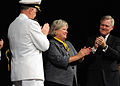 US Navy 110923-N-FC670-008 Ellen Roughead receives an award from the Secretary of the Navy (SECNAV) the Honorable Ray Mabus and Chief of Naval Ope.jpg