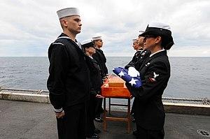 US Navy 111209-N-JE719-098 Sailors participate in a burial at sea.jpg