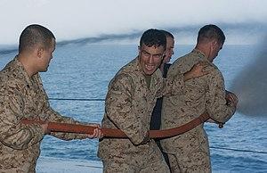 US Navy 120104-N-DX615-079 Marines practice proper hose handling techniques.jpg
