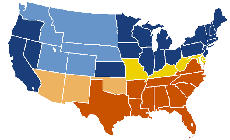 US Secession map 1863 (BlankMap derived).png